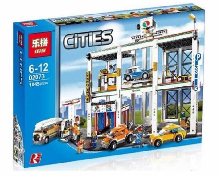"""Конструктор Lepin 02073 (реплика Lego City 4207) """"Городской гараж"""", 1045 дет"""