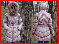 Теплый зимний пуховик пальто куртка. отличное состояние размер м 46