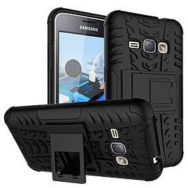 Чехол противоударный для Samsung J1 2015 / J100 бампер черный