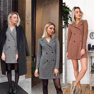 Платье- пиджак  в клетку