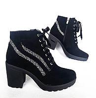 Женские  ботинки на каблуке.
