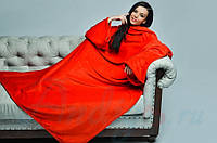 Плед с рукавами Homely Luxury красный