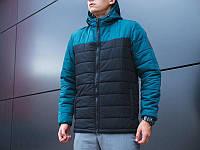 Молодежная куртка мужская Pobedov Double Colour Spring Jacket Весна осень  Черно-зеленый 9a5eb913632