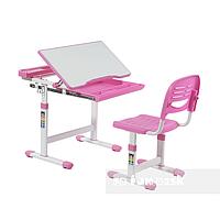 Детская парта со стульчиком FunDesk Cantare Pink+лампа FunDesk L1