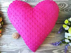 Подушка розовое плюшевое сердце ,  39 см * 39 см