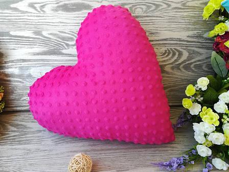 Подушка розовое плюшевое сердце ,  39 см * 39 см, фото 2