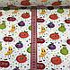 Хлопковая ткань польская фрукты и горошек разноцветные №85, фото 3