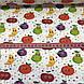 Хлопковая ткань польская фрукты и горошек разноцветные №85, фото 4