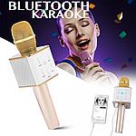 Беспроводной / Bluetooth Микрофон Караоке со встроенным динамиком Q7 GOLD