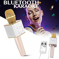 Беспроводной / Bluetooth Микрофон Караоке со встроенным динамиком Q7 GOLD, фото 1