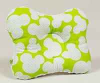 Подушка детская бабочка BabySoon Микки Маус 22 х 26 см салатовая