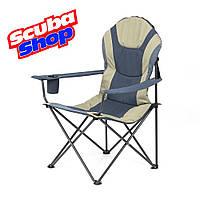 Кресло складное «Мастер карп» для рыбалки и туризма, цвет ткани графит / песок