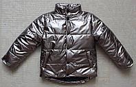 Куртка детская для мальчиков от 3 до 8 лет серебро, фото 1