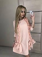 Платье с бантами и рюшами (3 цвета), фото 1