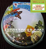 """Адаптер-сиденье мягкое с крышкой для унитаза Aqua Fairy """"Розы"""""""