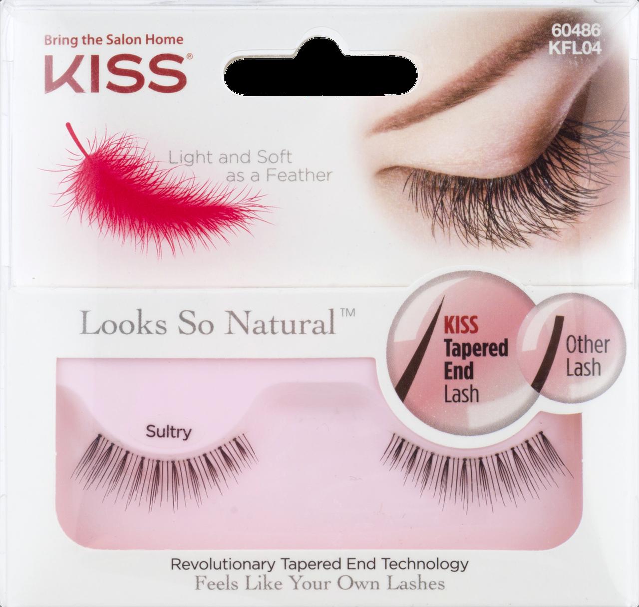 Супер-легкие накладные ресницы Looks So Natural Lash by KISS Sultry