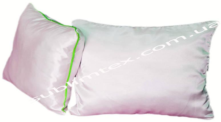 Подушка атласная, метод печати сублимация,искусственный наполнитель,размер 35х45., Кант салатовый, фото 2