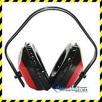 Наушники защитные противошумные с регулировкой длины ленты, красные (0034).