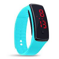 Спортивные черные наручные LED часы браслет XIAOYA 9814