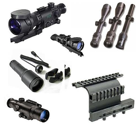 Прицелы, оптические прицелы, оружейные фонари