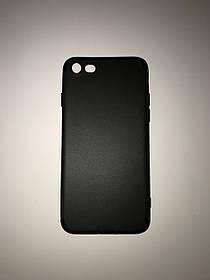 TPU Силикон тонкий (0,3 mm) Soft-touch matted Premium for Apple iPhone 7 Black (черный)