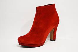 Ботинки красные замшевые Nivelle