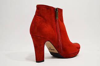 Ботинки красные замшевые Nivelle, фото 2