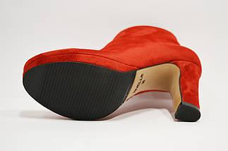 Ботинки красные замшевые Nivelle, фото 3