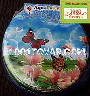 """Адаптер-сиденье мягкое с крышкой для унитаза Aqua Fairy """"Бабочки"""""""