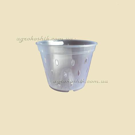 Вазон для орхидей прозрачный с отверстиями, фото 2