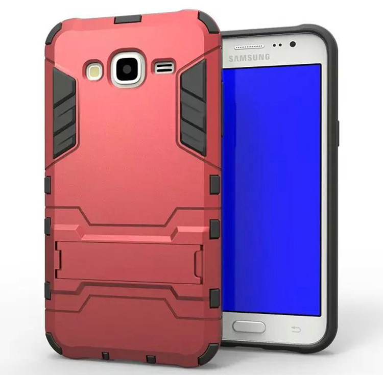 Чехол Iron для Samsung J5 2015 / J500H / J500 / J500F бронированный бампер red