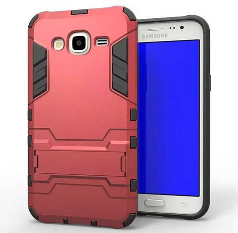 Чехол Iron для Samsung J5 2015 / J500H / J500 / J500F бронированный бампер red, фото 2