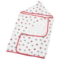 БАССИГ Полотенце с капюшоном, разноцветный, 60x125 см, BUSSIG, 30368718, IKEA, ИКЕА, BUSSIG