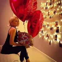 Гелиевые шары сердца в Днепре, фото 1