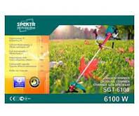 Бензокоса Spektr 6100 супер двойной ремень, 2шт победита, 1шт 3-х, бабина + паук