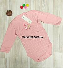 Боди  для новорожденного 74 р Польша розовый.