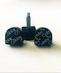Набойки черные на штыре «Cobby» 10x10мм, штырь 2,5mm,  возможна покупка в ассортименте, премиум класс