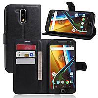Чехол для Motorola Moto G4 / G4 plus книжка (XT1622 / XT1642) черный