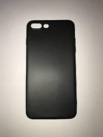TPU Силикон тонкий (0,3 mm) Soft-touch matted Premium for Apple iPhone 7 Plus Black (черный)
