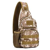 Тактическая военная сумка рюкзак EDC однолямочный Protector Plus X216 Pixel, фото 1