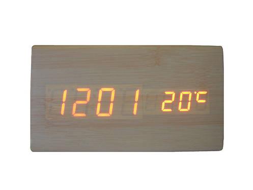 Электронные цифровые настольные часы дерево VST 861 подсветка Red Light Wooden, фото 2