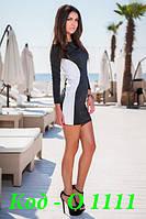 Платье женское короткое с рукавом