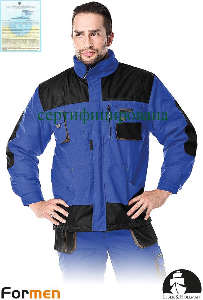 Куртка рабочая утепленная голубая FORMEN Lebber&Hollman Польша (зимняя спецодежда) LH-FMNW-J NBS