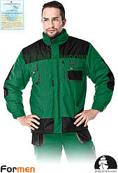 Куртка зимова робоча зелена FORMEN Lebber&Hollman Польща (спецодяг утеплена) LH-FMNW-J ZBS