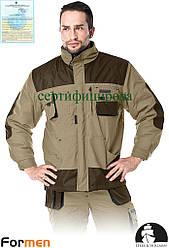 Куртка зимова робоча чоловіча FORMEN бежева Lebber&Hollman Польща (утеплений спецодяг) LH-FMNW-J BE3