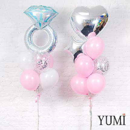 Оформление из воздушных шаров с гелием на девичник, фото 2