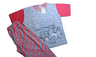 Пижама женская трикотажная, размеры  L,   арт. 533