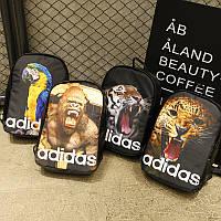 Стильный Городской  Рюкзак В стиле Adidas Fashion Animal ( Адидас )