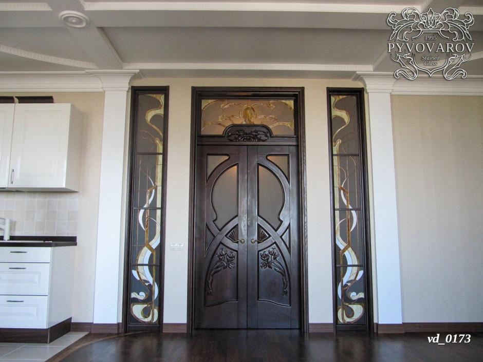 Комплект дверных витражей