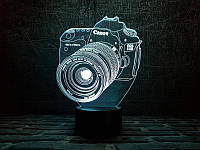 "3D Светильник ""Фотоаппарат"", фото 1"